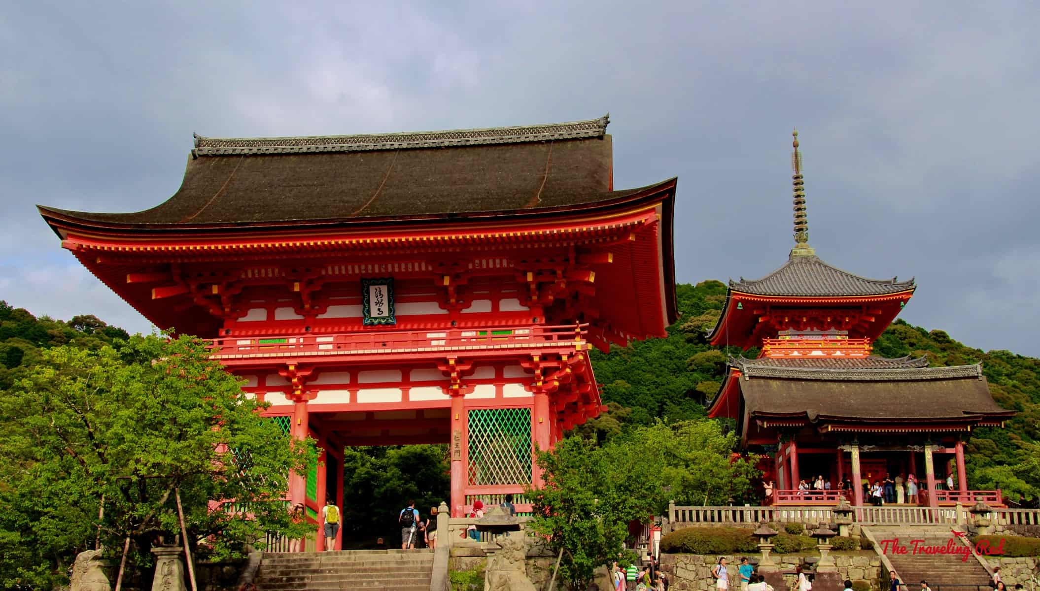 Visiting Kiyomizu-dera Temple and the surrounding area when in Kyoto, Japan.