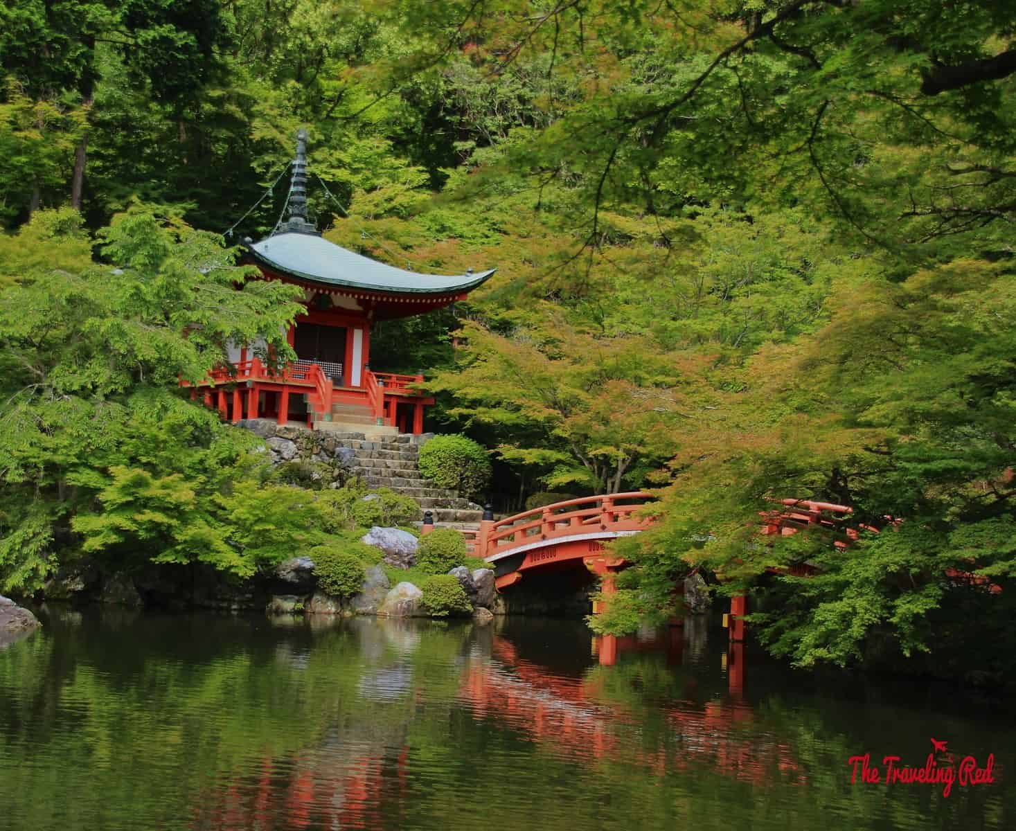 My favorite in Kyoto, Japan was Daigo-ji Temple, specifically Bentendo Hall. It is located on the outskirt of the city. Although it isn't one of the more significant temples, it is absolutely beautiful and worth visiting. Daigo-ji sits on a huge property, so expect to spend hours just walking around.