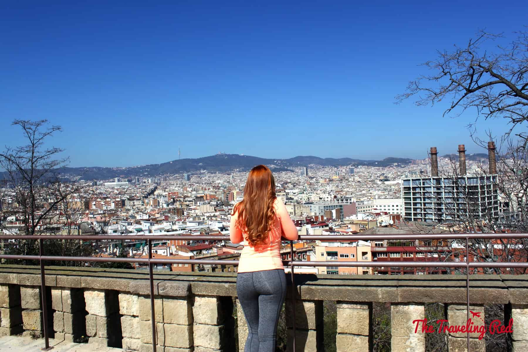 One of the best views of Barcelona, Spain is from Montjuic. It is known for its sweeping panoramic views of the city.