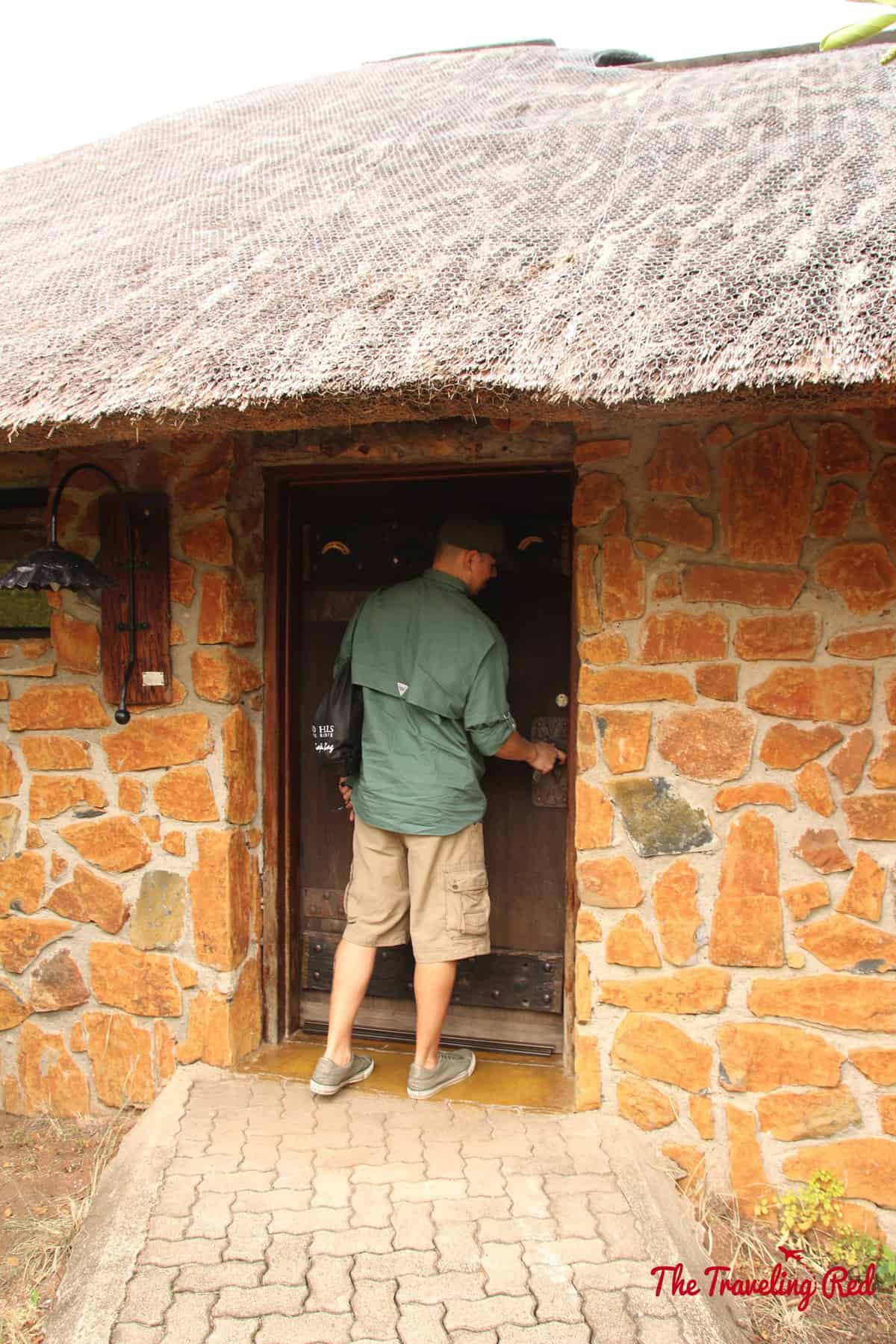 Entrance to our room at Leopard Hills