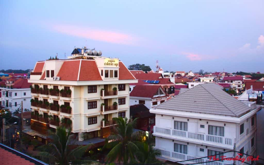 View from our room at Golden Temple Residences | Things to See & Do in Siem Reap Cambodia | Golden Temple Residences | Cooking Class | Cambodian curry | Angkor Wat | Temple Tour | Pub Street | Il Forno | Genevieve | Malis  #siemreap #cambodia #angkorwat