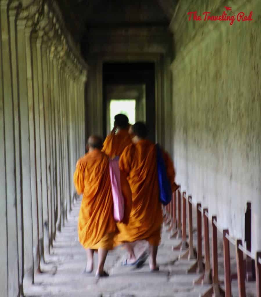Monks at Angkor Wat | Cambodia Temples | Siem Reap | Angkor Wat | Angkor Passes | Photography Tour | Angkor Archeological Park | Ta Prohm | Tomb Raider | Banteay Kdei | Ta Nei | North Gate | Bayon | Wat Thmey | Monks | South Gate | Preah Khan    #siemreap #angkorwat #cambodia