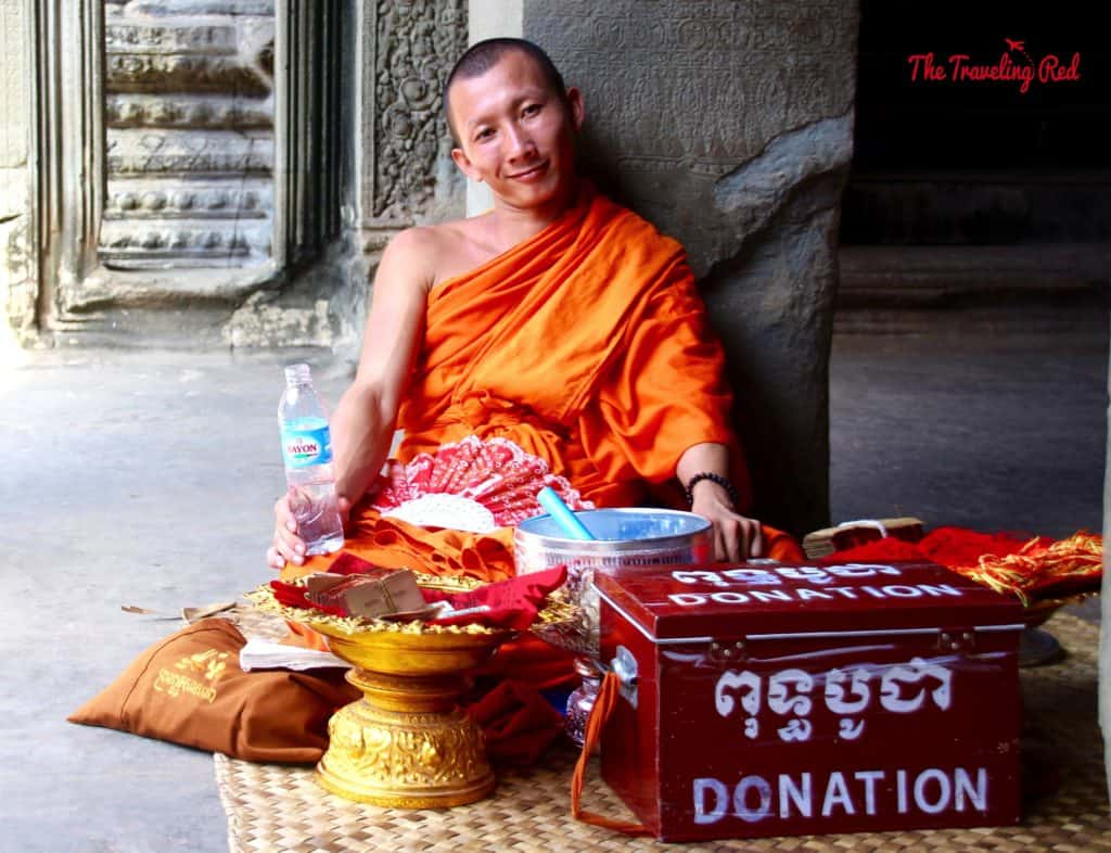 A Monk in Angkor Wat | Cambodia Temples | Siem Reap | Angkor Wat | Angkor Passes | Photography Tour | Angkor Archeological Park | Ta Prohm | Tomb Raider | Banteay Kdei | Ta Nei | North Gate | Bayon | Wat Thmey | Monks | South Gate | Preah Khan   #siemreap #angkorwat #cambodia