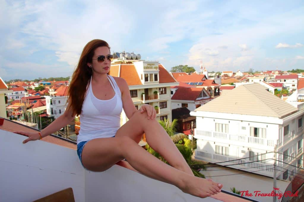 View from our balcony at Golden Temple Residences | Things to See & Do in Siem Reap Cambodia | Golden Temple Residences | Cooking Class | Cambodian curry | Angkor Wat | Temple Tour | Pub Street | Il Forno | Genevieve | Malis #siemreap #cambodia #angkorwat