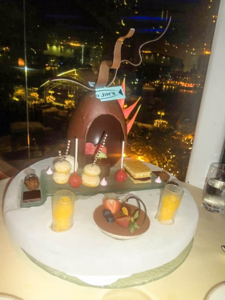 Dessert at Lord Jims at the Mandarin Oriental | Bangkok | Thailand | Peninsula Hotel | Lebua Hotel | the dome Sky Bar from Hangover 2 | Peninsula Hotel | Temples | Wat Arun | Wat Pho | Grand Palace | Lord Jims at the Mandarin Oriental Bangkok |  Riding in a tuk tuk | Muay Thai at the Rajadamnern Stadium