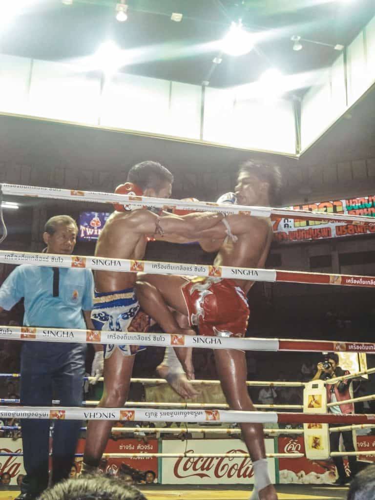 Front row at the Muay Thai fight at the Rajadamnern Stadium | Bangkok | Thailand | Peninsula Hotel | Lebua Hotel | the dome Sky Bar from Hangover 2 | Peninsula Hotel | Temples | Wat Arun | Wat Pho | Grand Palace | Lord Jims at the Mandarin Oriental Bangkok |  Riding in a tuk tuk