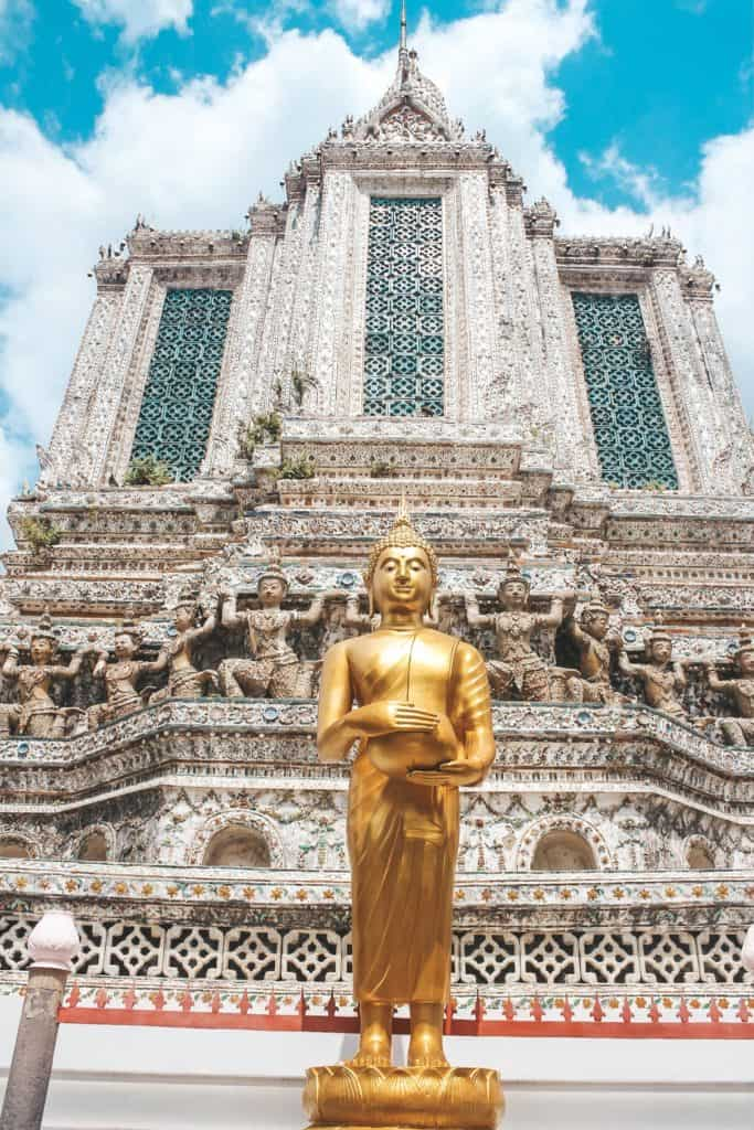 Visiting Temples in Bangkok | Thailand | Peninsula Hotel | Lebua Hotel | the dome Sky Bar from Hangover 2 | Peninsula Hotel | Temples | Wat Arun | Wat Pho | Grand Palace | Lord Jims at the Mandarin Oriental Bangkok |  Riding in a tuk tuk | Muay Thai at the Rajadamnern Stadium