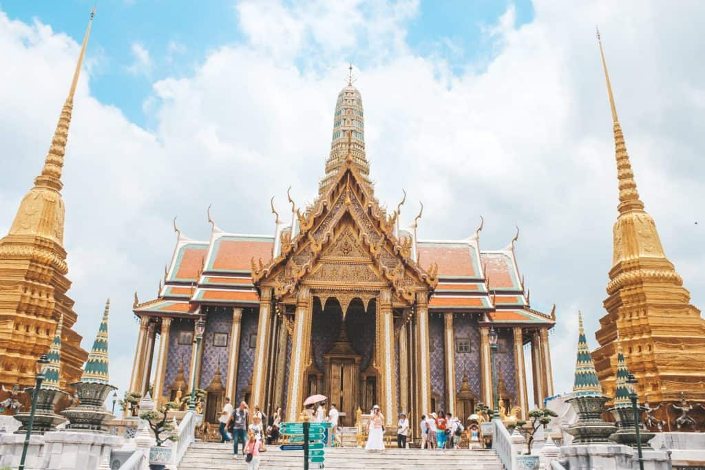 Visiting the Grand Palace in Bangkok | Thailand | Peninsula Hotel | Lebua Hotel | the dome Sky Bar from Hangover 2 | Peninsula Hotel | Temples | Wat Arun | Wat Pho | Grand Palace | Lord Jims at the Mandarin Oriental Bangkok |  Riding in a tuk tuk | Muay Thai at the Rajadamnern Stadium