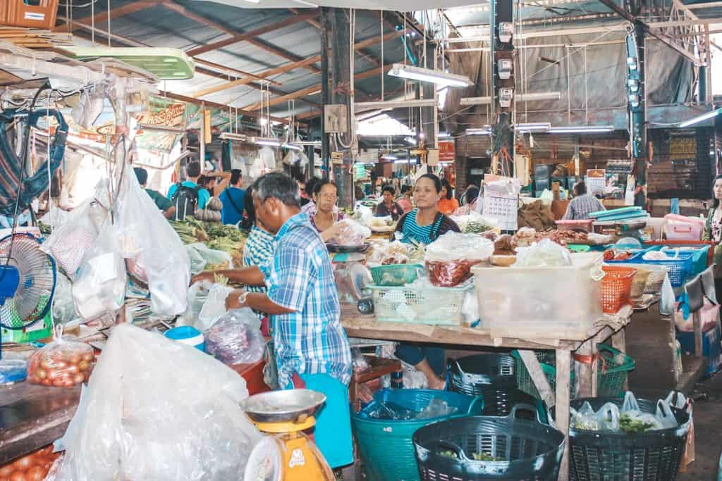 Inside one of the many shops at the railway market. Tour of the Railway Market and Floating Market from Bangkok, Thailand. #bangkok #thailand #railwaymarket #floatingmarket