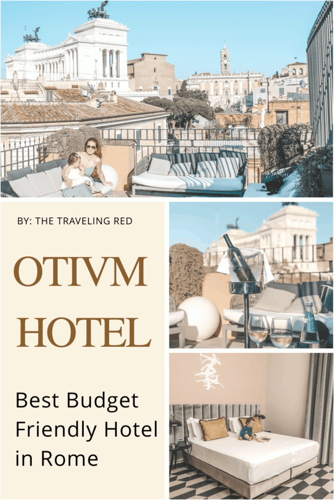 The Otivm Hotel in the city center of Rome | Italy | budget friendly boutique hotel | great service | spacious rooms | king size bed | rooftop bar overlooking the city | best hotel #rome #italy #italia #otivmhotel #besthotel #rooftopbar