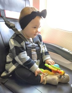 Airplane harness for a kid. Turns a regular airplane seat into a carseat with a full harness. Much easier than carrying a car seat onto the plane and allows for a safe way to travel. Lap child vs purchasing a seat