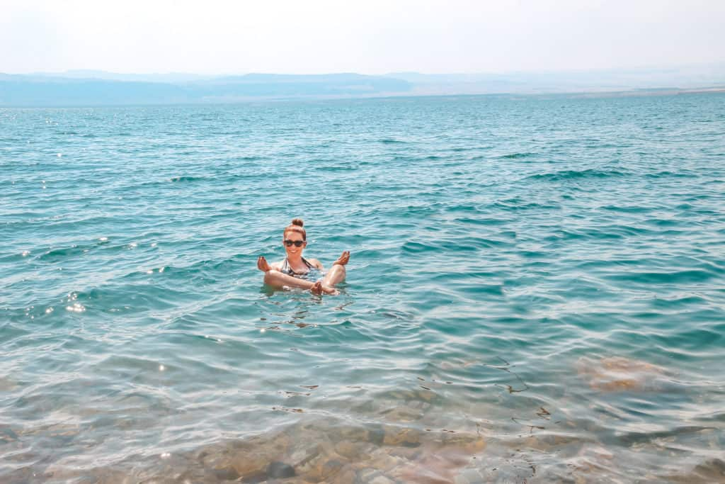 Floating in the Dead Sea is a once in a lifetime experience, so if you're in Jordan, it's a must. | Middle East | Best Vacation Destination | Petra | The Treasury | Dead Sea | Bedouin dinner | Amman