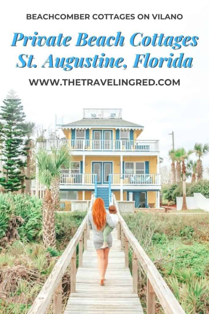 The best beach cottages right on a private beach near St Augustine, Florida | The Beachcomber Cottages on Vilano | beachfront property | private beach