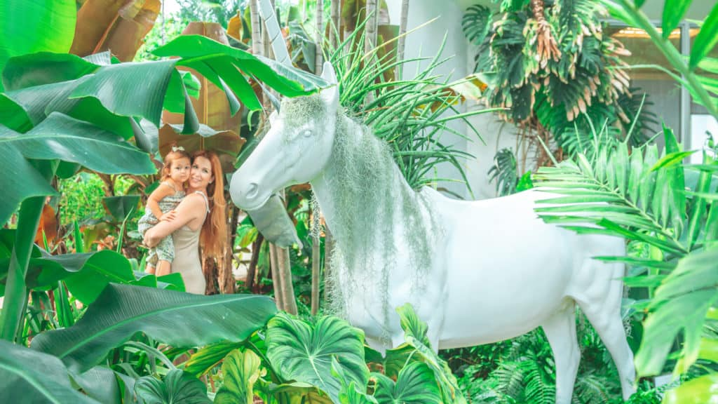 The Miami Beach Botanical Gardens has a huge unicorn that was definitely my favorite part fo the entire garden.
