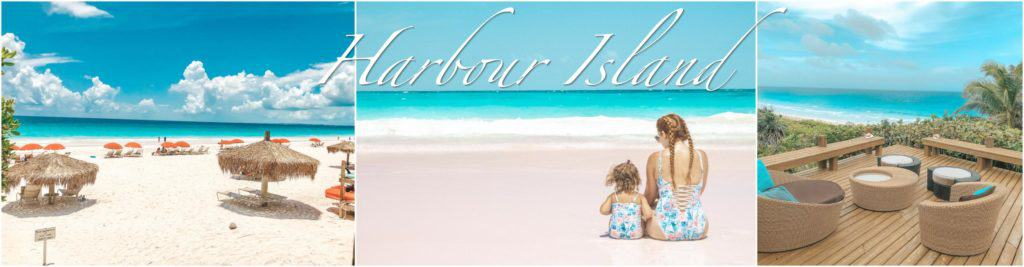 Harbour Island, Bahamas. Pink sands, turquoise waters and beautiful beach houses.
