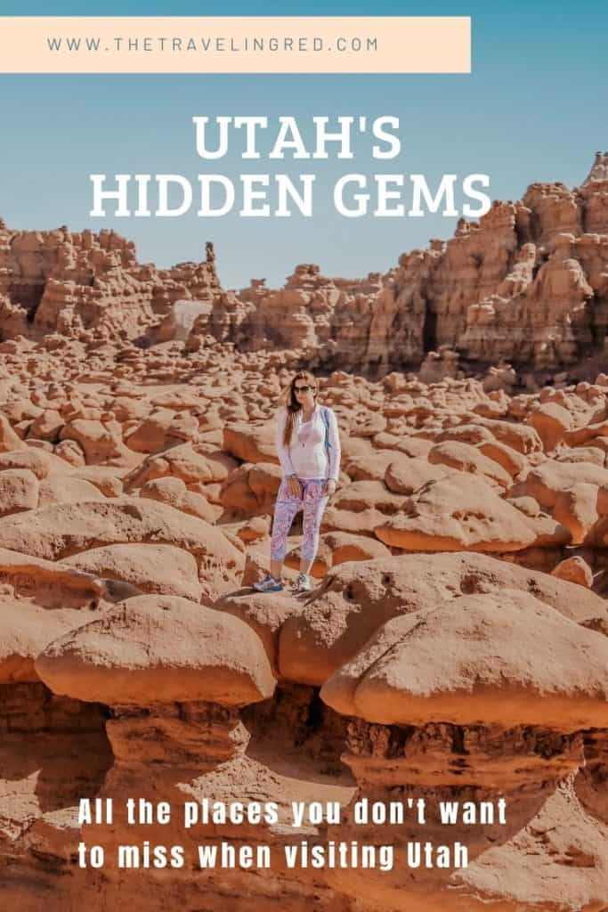 Utah's hidden gems - Goblin Valley State Park - places you must see on your road trip in Utah. The best state for camping trips in the United States. So many great national parks and places to hike.