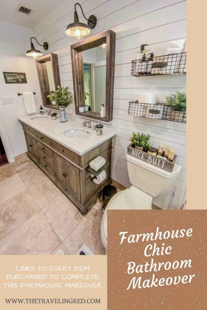 FARMHOUSE CHIC BATHROOM MAKEOVER - FULL RENOVATION PROCESS & WHAT TO BUY