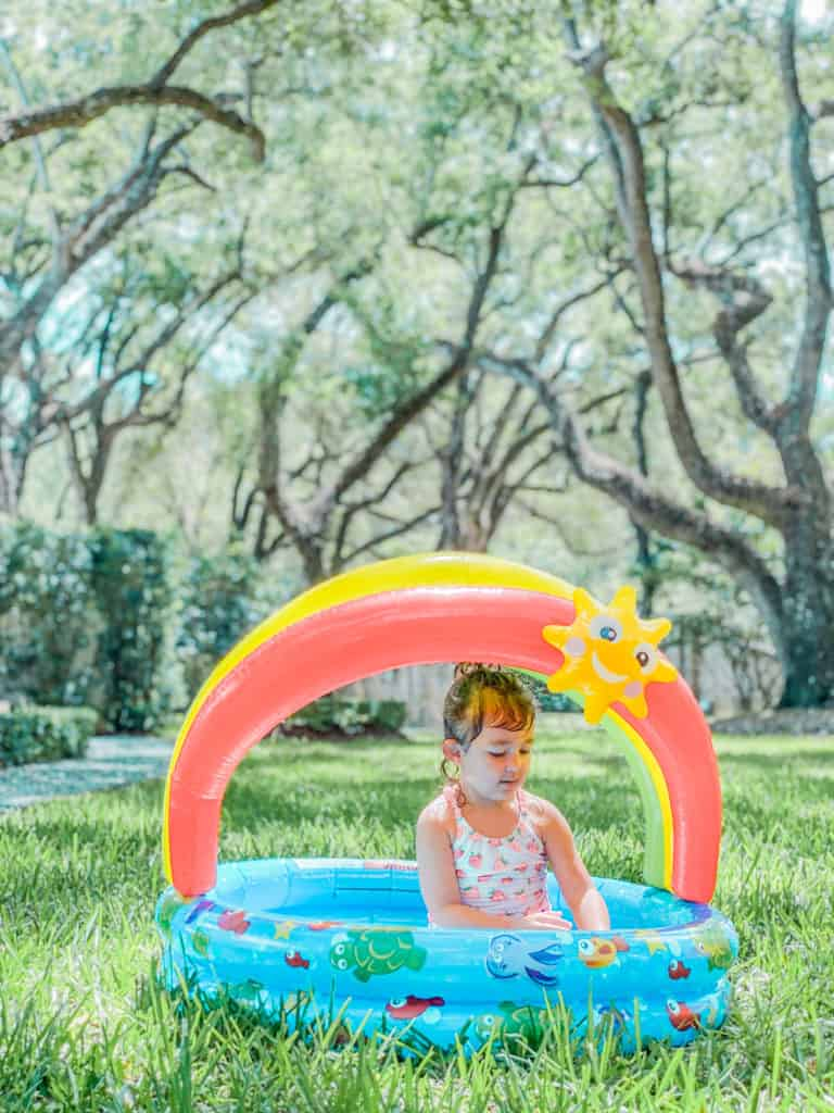 Inflatable Kiddy Pool at Home