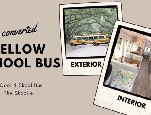Converted Yellow School Bus. Bus conversion into a tiny vacation home on wheels. 2 Cool 4 Skool Bus, the Skoolie.