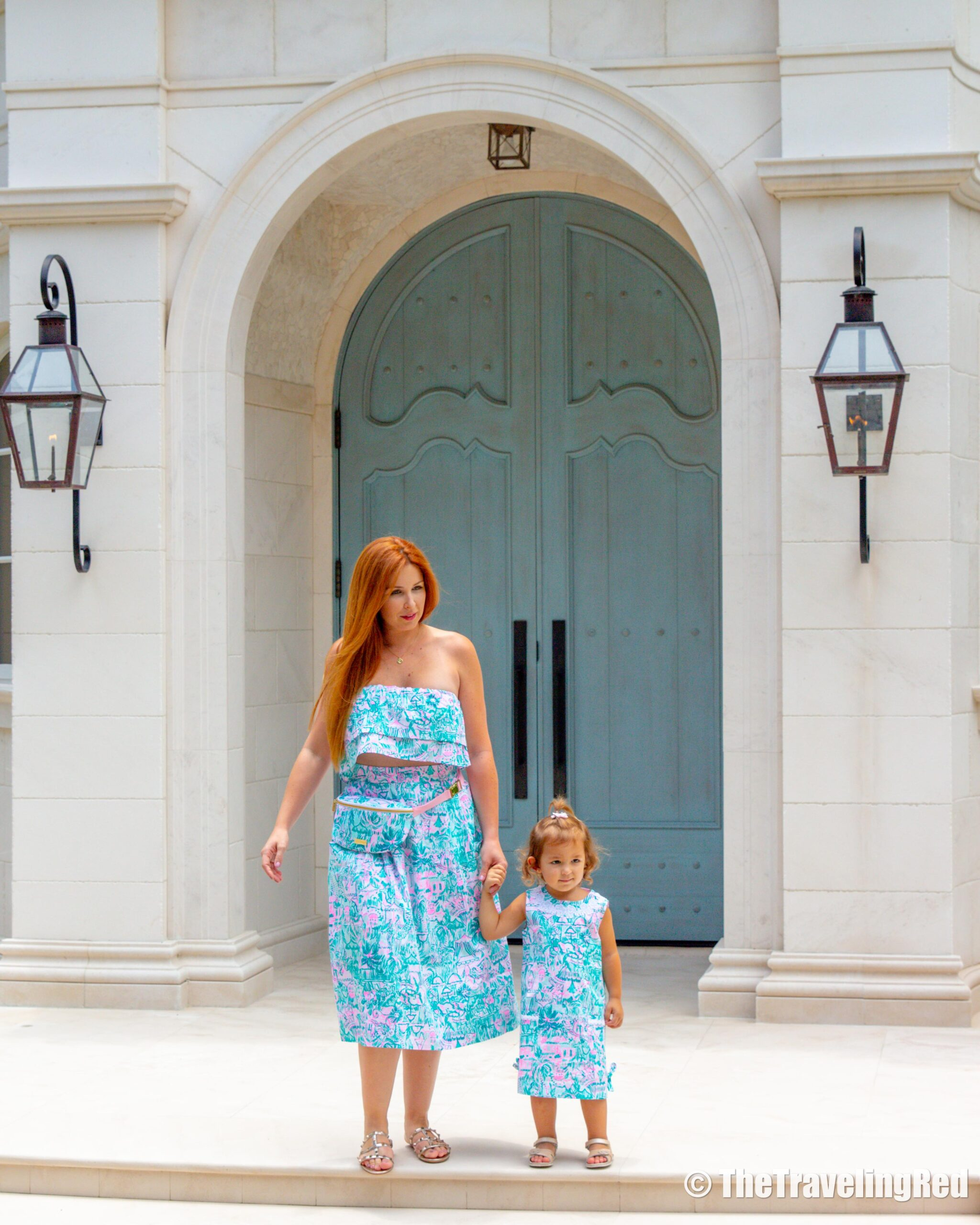 Wearing our matching mother daughter Lilly Pulitzer dresses - matching Lilly outfits are on major sale right now - check out all the matching mother daughter options | Discover the Palm Beaches | Lilly Pulitzer | Travel Tourism Board | Fashion Collaboration | Matching Mother Daughter Outfits | West Palm Beach | Riviera Beach | Jupiter | Palm Beach Gardens | Wellington | Lake Worth | Boca Raton |Boynton Beach | Delray Beach | Lion Country Safari | High Tea at the Chesterfield Palm Beach Hotel | A Day in the Life of an Influencer or Content Creator | What Do Bloggers Do | Film Crew | Behind the Scenes | The Brazilian Court Hotel | PGA National Resort and Spa | Amanda Perna from Project Runway | Flagler Museum | Eau Palm Beach | Guanabanas | Beach Paddleboard Yoga | #socialmedia #travelblogger #tourismboard #collaboration #influencer #fashionblogger #palmbeach #lillypulitzer