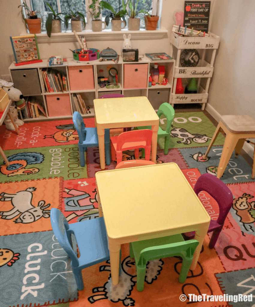 Inside 2 Cool for Skool the cutest homeschool classroom you've ever seen. Homeschool Rooms | Homeschool | Homeschooling | Classroom | Preschool | Kindergarten | Make Learning Fun with Games #homeschool #homeschooling #classroom #homeschoolclassroom #homeschoolroom #homeschoolingrooms