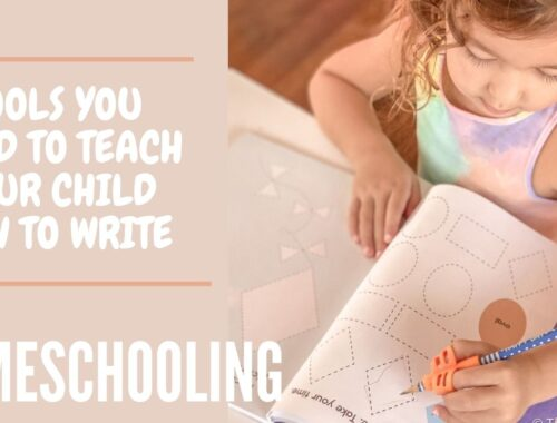 Best tools for teaching your child how to hold their pencil properly and learn to trace and write. Perfect for homeschooling preschoolers. | Tracing | Writing | Homeschool | Pencil | #LearnToTrace #LearnToWrite #Preschool #Homeschool