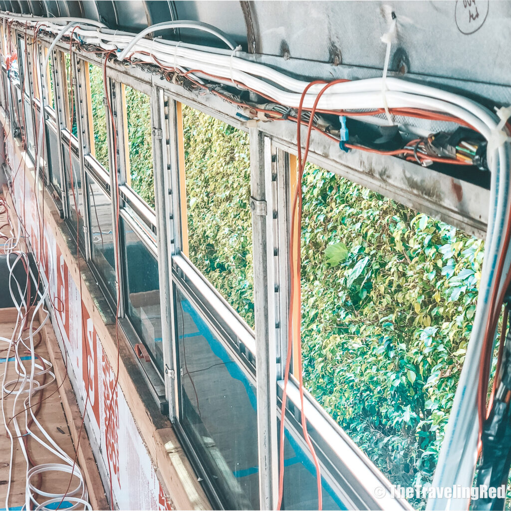 School Bus Conversion, 2 Cool 4 Skool Bus. The electrical process of our buildout. Full analysis of the cost of converting a yellow school bus into a vacation home on wheels. All of the details of our skoolie conversion. Our vacation home that took us on a road trip around the US to see some of the countries most beautiful places. #ConversionCost #SchoolBus #Skoolie #SchoolBusConversion
