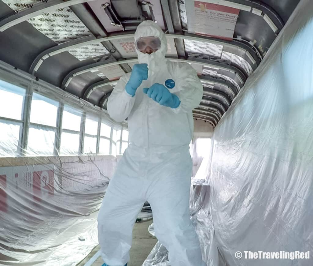 School Bus Conversion, 2 Cool 4 Skool Bus. The insulating process during the buildout. Full analysis of the cost of converting a yellow school bus into a vacation home on wheels. All of the details of our skoolie conversion. Our vacation home that took us on a road trip around the US to see some of the countries most beautiful places. #ConversionCost #SchoolBus #Skoolie #SchoolBusConversion