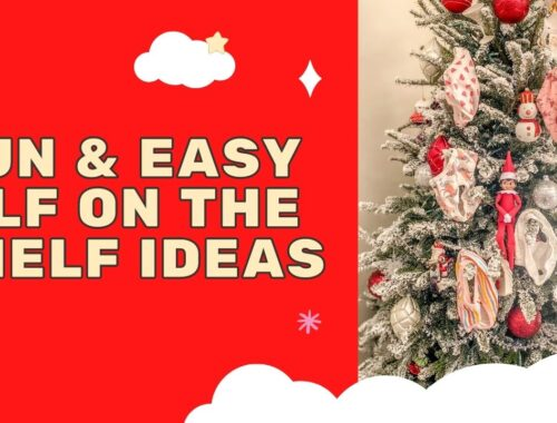 Fun & easy Elf on the Shelf ideas for your toddler or little kid. Quick to setup and lots of naughty and nice ideas, perfect to bring some Christmas magic to your home. #ElfOnTheShelf #ElfIdeas #ElfOnTheShelfIdeas #Christmas #ChristmasMagic