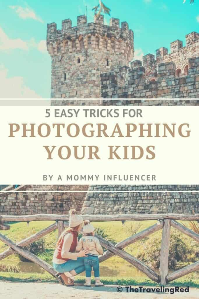 5 easy tips and tricks for photographing your kids. If you have a toddler that doesn't want to smile or pose this is the best mom hack you'll ever find. Get your children to take beautiful pictures without any issues #photography #momhacks #kidphotography #tips #tricks